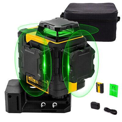 Kaiweets Construction Laser Laser Level 3 X 360 Green Line Self-leveling Bag