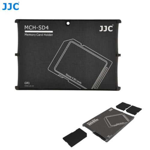 Compact Wallet Memory Card Holder Storage Protective Case fr 4 SD SDHC SDXC Card