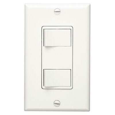 Broan Nutone 68W Two Function Control White Wall Switch  Broan Two Function Controls