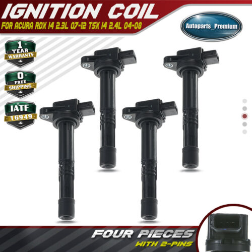 4x Ignition Coil Pack For Acura RDX I4 2.3L 07-12 TSX I4 2