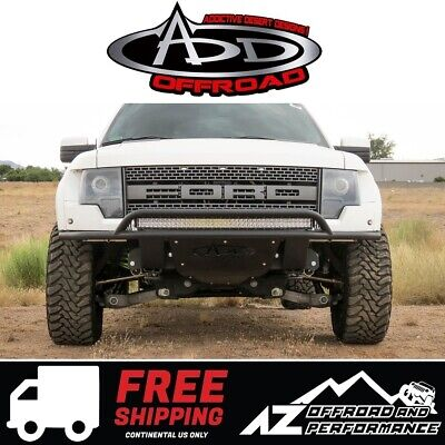 ADD Lite Front Bumper w/ Top Hoop Black For 2010-2014 Ford F150 Raptor