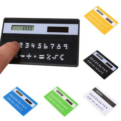 Ultra Thin Solar Energy Power Slim Card Size Pocket Wallet Calculator 8 Digits