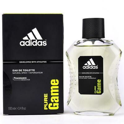 Adidas Mens Edt Spray - Adidas PURE GAME Cologne for Men 3.4 oz edt 3.3 Spray New in BOX