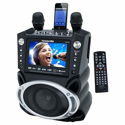 Karaoke USA GF830 DVD/CDG Karaoke Player with Bluetooth & SD Slot New