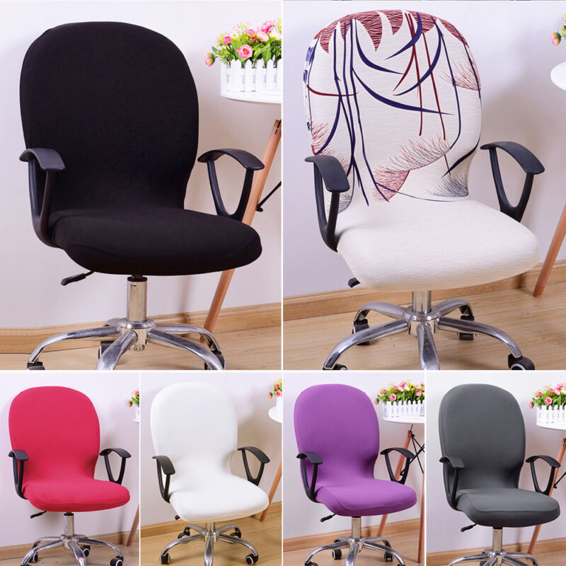Office Computer Chair Cover Spandex Stretch Swivel Rotate Se