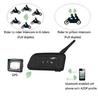 BT Bluetooth Motorrad Helm Interphone Intercom Headset V6 1200M 6 Fahrer D8K9 Interphone Bluetooth-headset