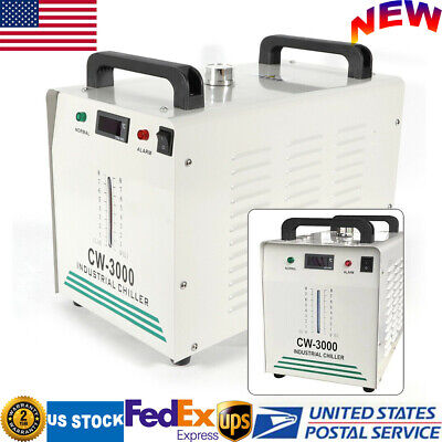 Cw3000 Industrial Water Chiller 9l 110v For Co2 Laser Tube Of Engraving Machine