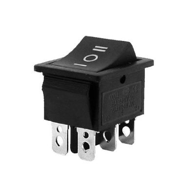 5pcs Latching 3 Position Onoffon Black Rectangle Rocker Switch 6 Pins 12v