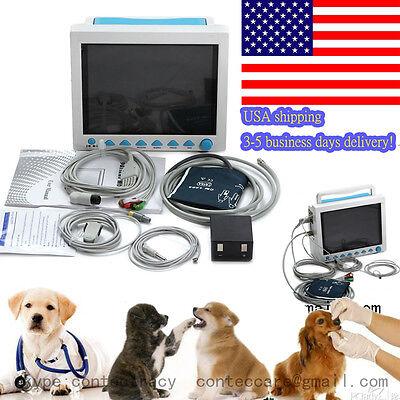 Us Seller Veterinary Patient Monitor Ecgnibpspo2resptemppr For Vet Contec