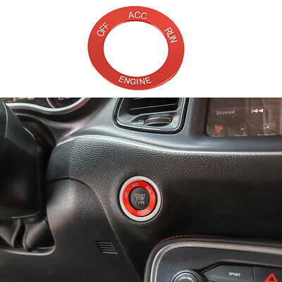 Engine Start Stop Switch Knob Trim Accessories for Dodge Challenger Charger 10+