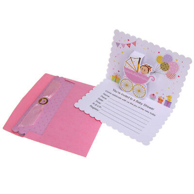 Invitations Baby Shower (Baby Shower Girl Pop-Up Invitations, Pink, 6-3/4-Inch,)