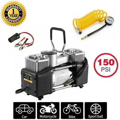 12V Auto Luftkompressor pumpe für LKW Limousinen Fahrrad Basketball 2 Zylinder