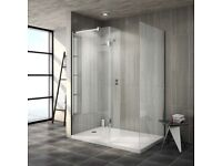 Walk In Brand new Shower Enclosure, Includes Side Panel, Return Panel with Tray