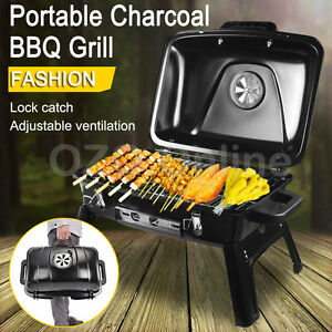 Portable Mini Charcoal BBQ Grill Barbecue Camping Barbeque Picnic Outdoor Burner