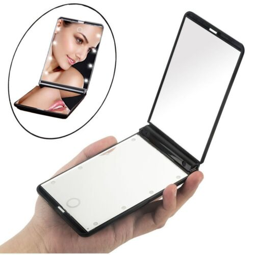 Lighted Makeup Mirror with Lights LED Magnifying with Magnification Portable Health & Beauty