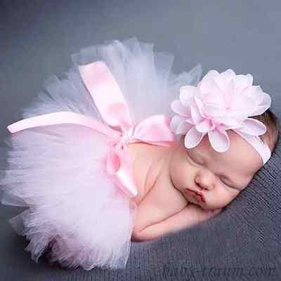 Fotoshooting für ★Neugeborene Baby★ Kostüm Tütü + Stirnband - Kostüm Für Neugeborene Mädchen