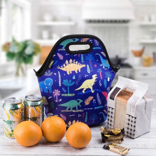 Neoprene Lunch bags for Women Kids Dinosaur Cute Lunch Bag f