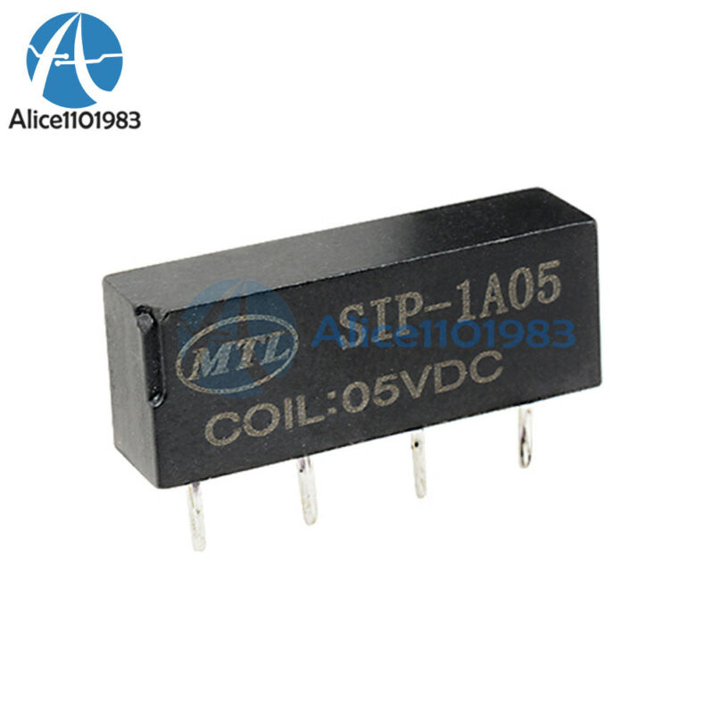 10PCS 5V Relay SIP-1A05 Reed Switch Relay for PAN CHANG Relay 4PIN New