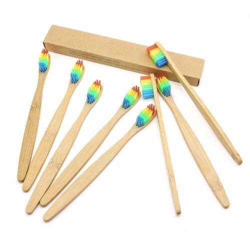 Bambus Kopf Zahnbürste Umwelt Holz Regenbogen Beste Bambus Zahnbürste