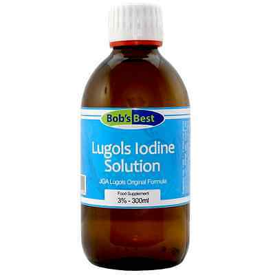 Lugol's Iodine - 3% Solution - 300ml - from Bob's Best Natural...