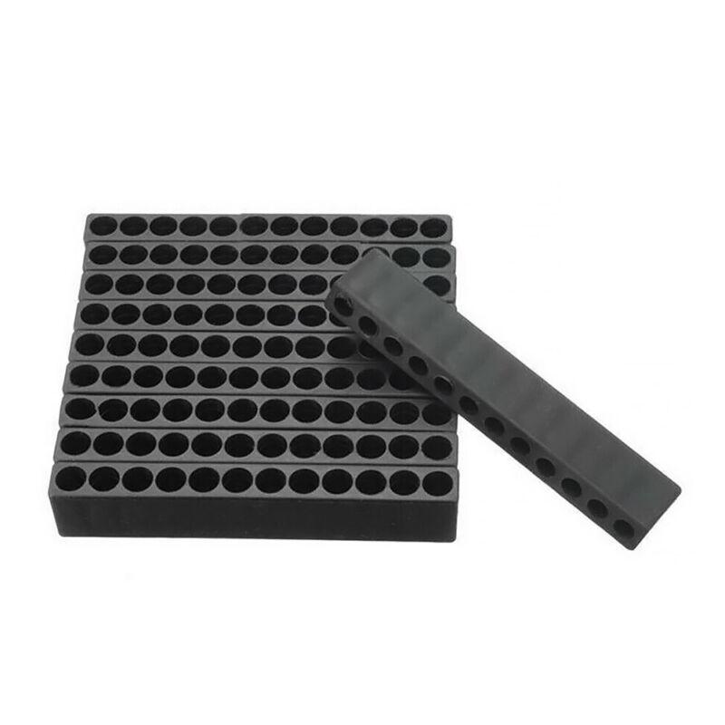 Toolcool 10pcs 12 Holes Hex Shank Screwdriver Bit Holder Plastic Screwdriver