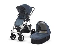 Uppababy Uppa Baby Vista Travel System Pram with Bassinet Pushchair in Cole Blue 2012