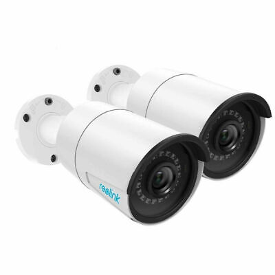 5MP PoE IP Security Camera Audio Video Surveillance Outdoor RLC-410 2-Pack