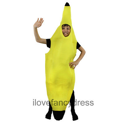CHILD BANANA COSTUME KIDS HEALTHY EATING FRUIT FANCY DRESS UNISEX FOOD OUTFIT - Kids Fruit Costumes