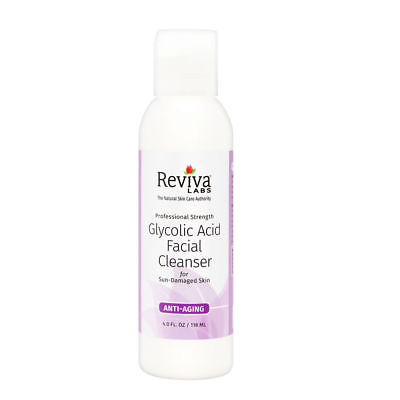 Reviva Labs Glycolic Acid Facial Cleanser 4Oz   For Mature Or Sun Damaged Skin
