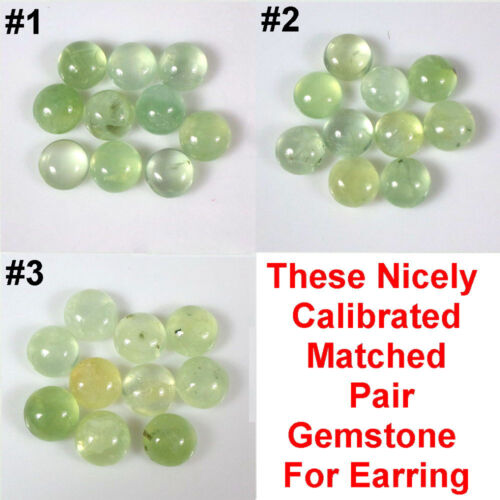 7mm/9mm/10mm Round Lime Treasure! Green Moss Prehnite Natural Loose Gemstone qty