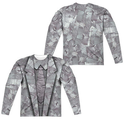 Duct Tape Suit Halloween Costume Long Sleeve T-shirt Front & Back (Duct Tape Halloween Costumes)