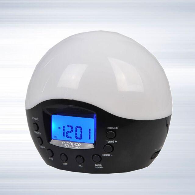 Wake up Light Alarm clock Radio Lighting 24-hour Watch Display LCD Display