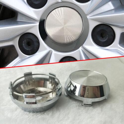 Silver Car Wheel Hub Center Cap Set of 4 for Car Rim Universal Part 60mm 56mm