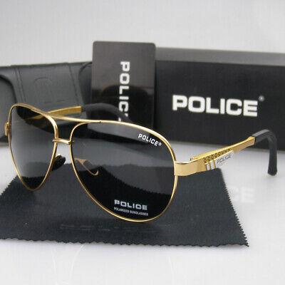 Men Women Polarized Sunglasses Gold,Black,Gun Eyewear Police Driving (Police Eyewear)