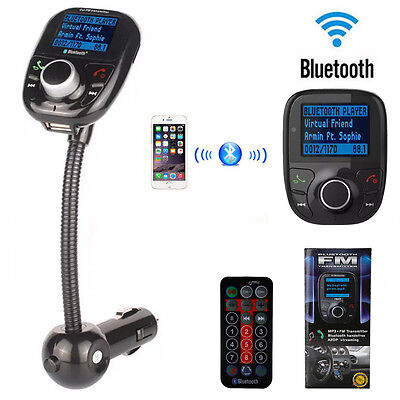Bluetooth Auto FM Transmitter Freisprechanlage Car MP3 Player USB SD AUX KFZ