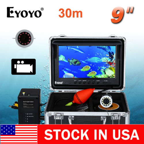 "30M 9"" LCD 1000TVL Infrared Fishing Camera Fish Finder 8GB DVR Camera US STOCK"