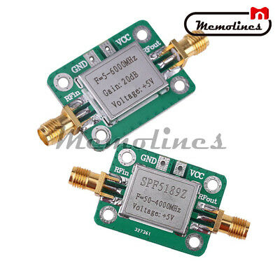 5m-6ghz Rf Lna Broadband 50-4000 Mhz Spf5189 Rf Signal Power Amplifier Receiver