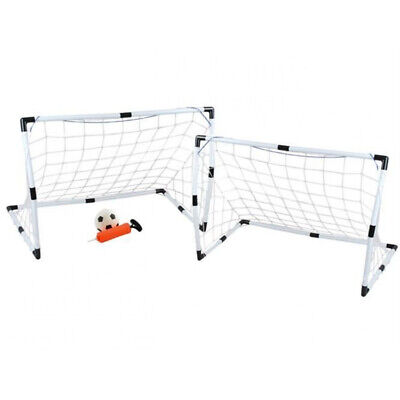 Fußballtor Set Groß+Klein Ball Handpumpe  3 Starke Netze Einfache Montage 6729