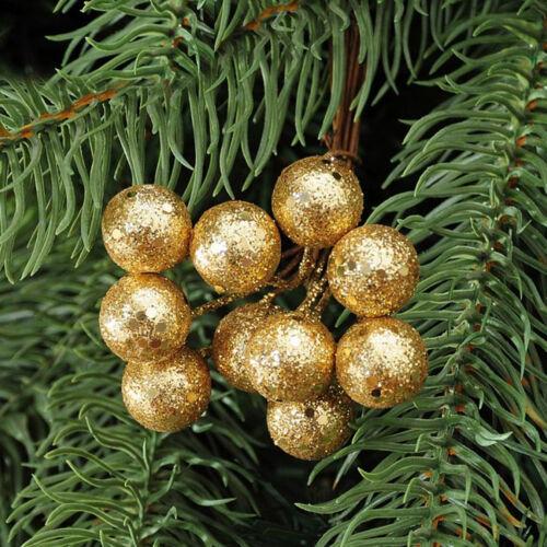 10PcsString Glitter Christmas Balls Baubles Xmas Tree Hanging Ornament Decor