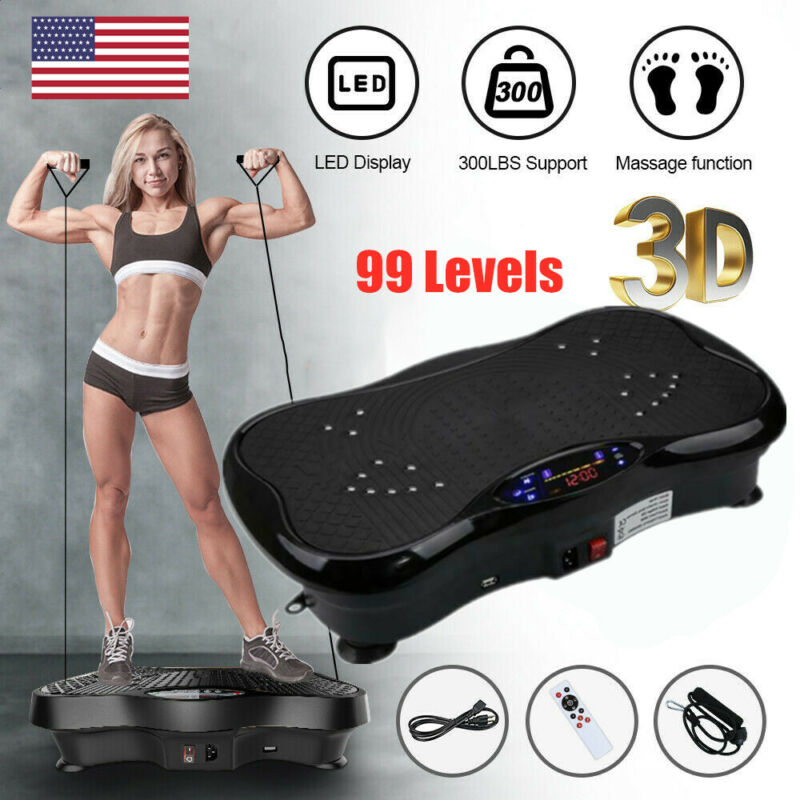 Vibration Plate Exercise Machine Crazy Fit Body Shaker Massage Oscillating Power