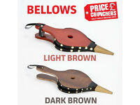 Fireside Fire Bellows Dark Brown BBQ Fireplace Wood Burner Stove Lighter Tongs