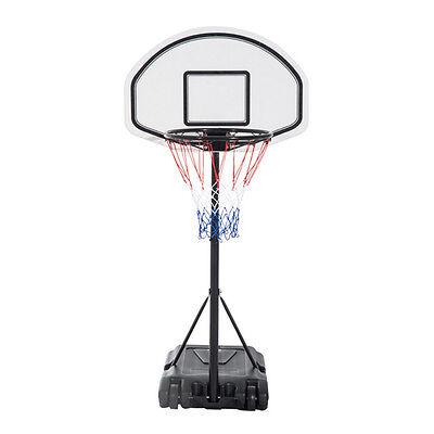 Adjustable Height Basketball Hoop System Backboard Swimming Pool Games Sport