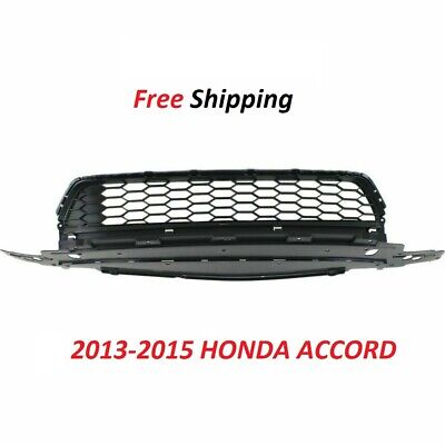 For 2013 2014 2015 New Center Bumper Cover Grille Textured Gray Accord HO1036114