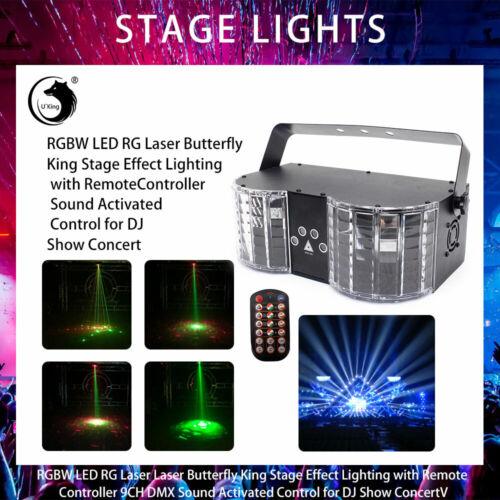 54 LEDs 25W Colorful RGB Laser Stage Lamp Sound Actived DMX DJ Effect Lights Spot Light Great for KTV Pub Disco Party Dance Halls Wedding US Plug 110V LED Stage Light