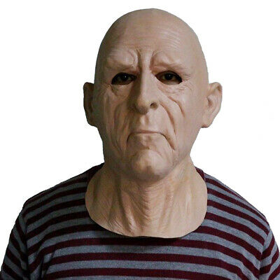 Creepy Halloween Costumes Old (Old Man Mask Celebrity Latex Party Costumes Halloween Creepy Carnival Mask)