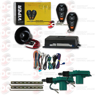 Used, VIPER CAR ALARM WITH 2 REMOTES & KEYLESS ENTRY PLUS PAIR OF 2-WIRE DOOR ACTUATOR for sale  Los Angeles