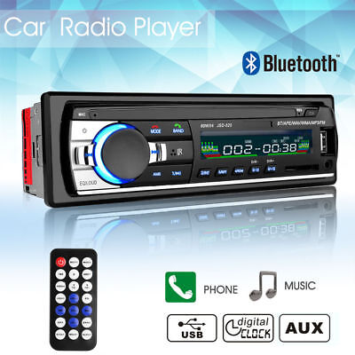 Bluetooth In Dash Car Auto Stereo Audio Sd Usb Tf Aux Input  Mp3 Fm Radio Player