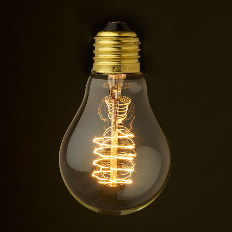 This is a spiral filament standard shape vintage bulb