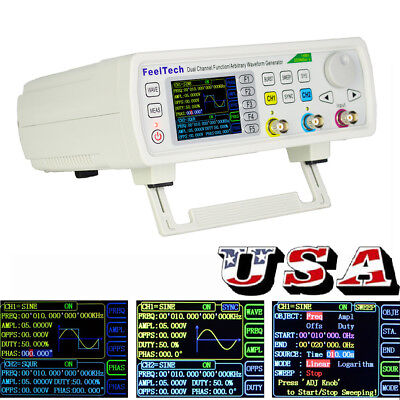 Feeltech Fy6600 Dds Function Arbitrary Waveform Generator Frequency Meter 60mhz