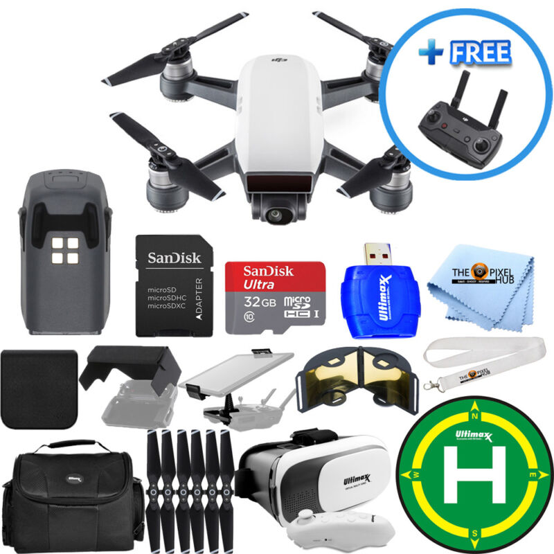 DJI Spark Quadcopter EXTREME ALL YOU NEED PROFESSIONAL BUNDLE BRAND NEW